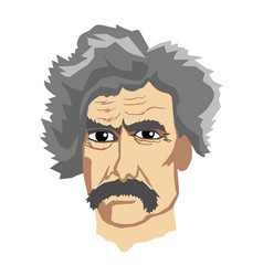 Famous writer mark twain vector