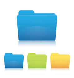 file folder vector image