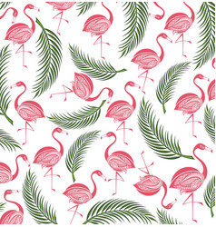Flamingo seamless background vector