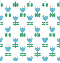 folk art pattern - scandinavian nordic vector image