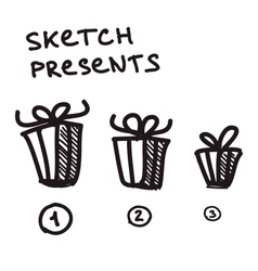 Funny present boxes of differrent size vector image