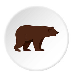 Grizzly bear icon circle vector