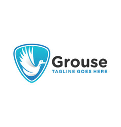 grouse shield design vector image