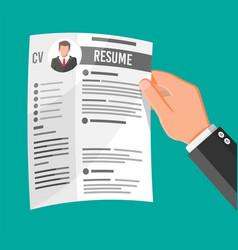 Hand holding job application vector