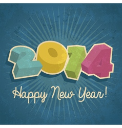 Happy Retro New Year 2014 vector image