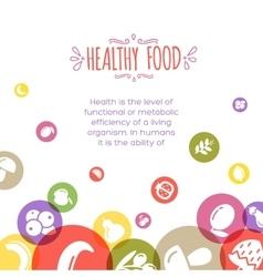 Healty food cartoon representing vector image