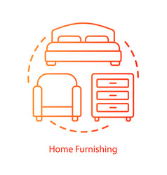 Home furnishing purchase concept icon interior vector