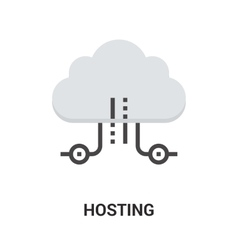 hosting icon concept vector image