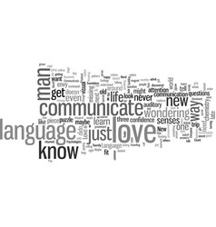 How to communicate in his love language vector