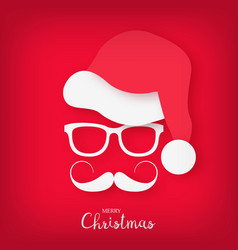 image of santa claus with a stylish mustache vector image