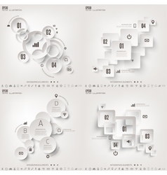 Infograaphics set Diagram or vector image