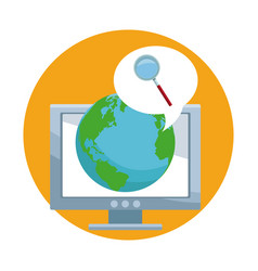 Internet browsing in the world vector