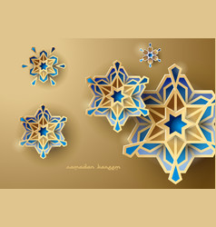 islamic design background geometric greeting vector image