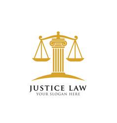 Justice law logo design template attorney logo vector