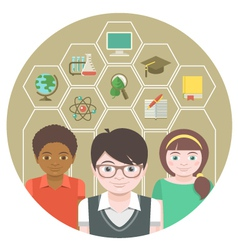 Kids and School Subjects vector