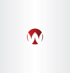 letter w red sign logo element vector image