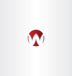 letter w red sign logo element vector image