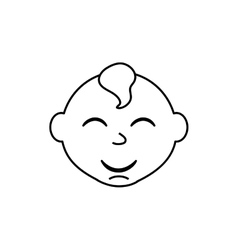 little baby cartoon vector image