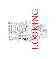 Look word cloud concept vector