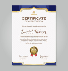 Luxury golden certificate template vector