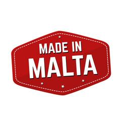 Made in malta label or sticker vector