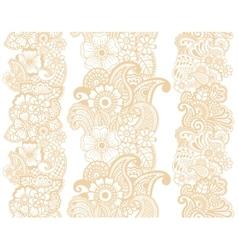 Mehndi ribbons Paisley design vector