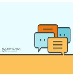 modern outline flat design of communication vector image
