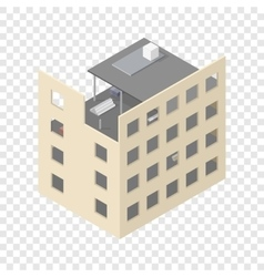 New isometric house under construction vector