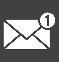 new message solid icon email and website button vector image