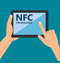 nfc technology concept design vector image