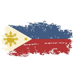 Philippines grunge flag vector