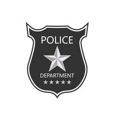 police department badge shield cop badge vector image