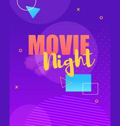 poster advertising ticket online movie night vector image