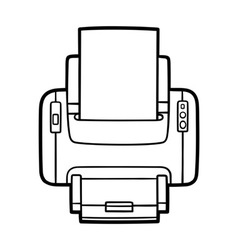 printer in outlines vector image