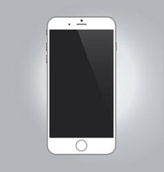 realistic device mockup white color smartphone vector image