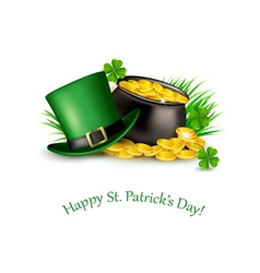 Saint Patricks Day background with a green hat and vector