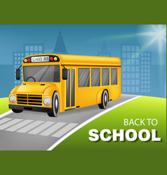school bus realistic detailed 3d vehicle vector image