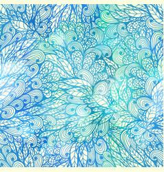 seamless floral grunge blue gradient pattern vector image