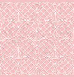 Seamless pattern of knitted lace white hinges and vector