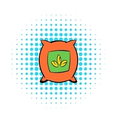 Seeds bag icon comics style vector