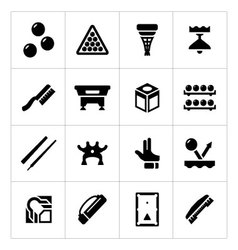 Set icons of billiards snooker and pool vector