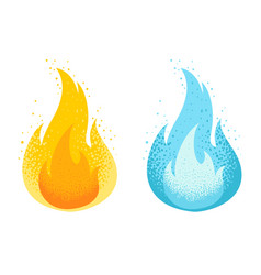set two icons fire vector image
