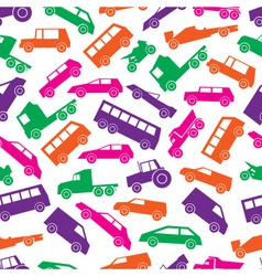 simple cars color icons seamless pattern eps10 vector image