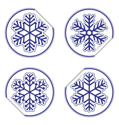 Snowflakes stickers vector image