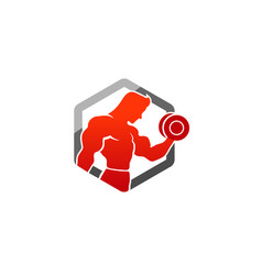 super gym logo vector image