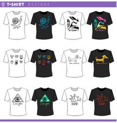 T shirt concept designs set vector