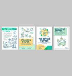 Targeting course brochure template layout flyer vector