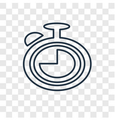 Timer concept linear icon isolated on transparent vector