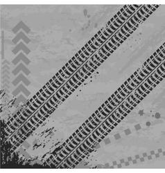 Tire track wallpapper vector image