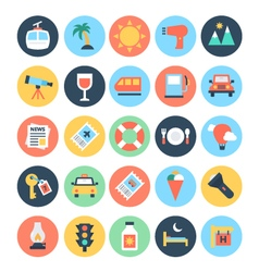 Travel Icons 3 vector image